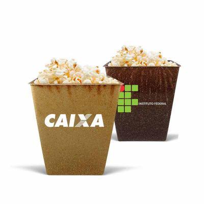 Pipoqueira em formato retangular sustentável personalizado - Crazy Ideas