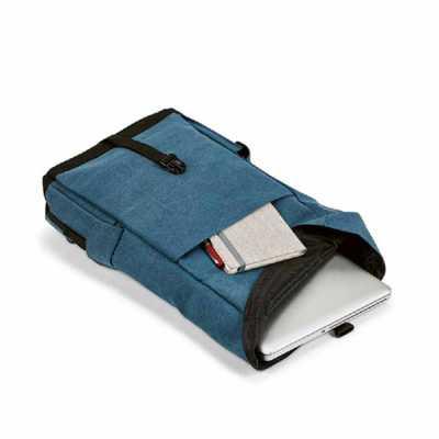 Mochila para notebook. Algodão canvas pré-lavado. Compartimento principal forrado, com 2 bolsos interiores e divisória almofadada para notebook até 15... - Crazy Ideas