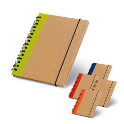crazy-ideas - Caderno capa dura. Cartão. Com 60 folhas não pautadas de papel reciclado. 105 x 145 mm.