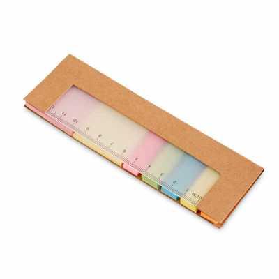 Caderno. Cartão. 7 conjuntos: 25 folhas cada. Com régua de 12 cm com escala impressa. 159 x 50 x ...