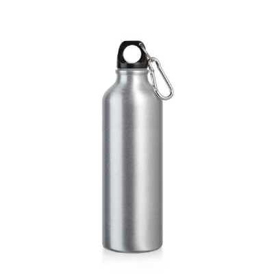 Squeeze. Alumínio. Com mosquetão. Capacidade: 750 ml. Food grade. Caixa branca 94657 vendida opcionalmente. ø73 x 247 mm.