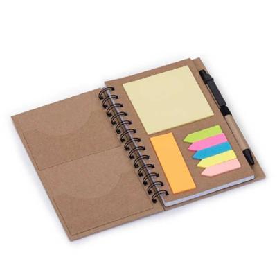 crazy-ideas - Bloco de anotações ecológico com caneta e sticky notes. Bloco com dois suporte internos para cartão, possui cinco blocos auto-colantes com 20 folhas c...