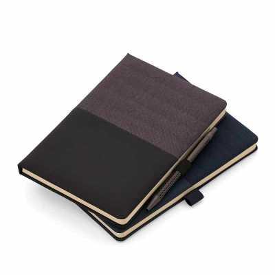 Caderno de anotações com suporte para caneta - Crazy Ideas
