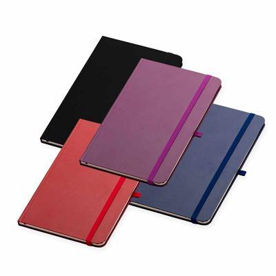 Crazy Ideas - Caderneta em couro sintético com elástico suporte para caneta