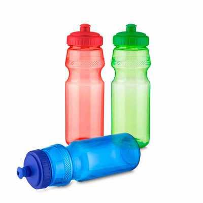 Garrafa tipo Squeeze, em plástico, com tampa rosqueada, bico com trava. Capacidade: 750 ml. - Crazy Ideas