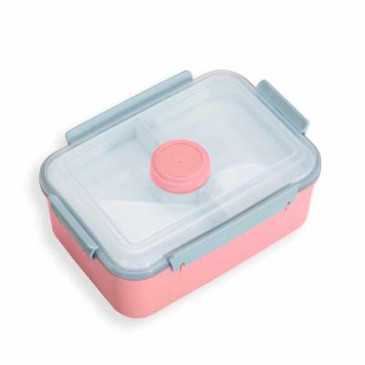 Crazy Ideas - Marmita plástica com divisão de compartimentos. Possui tampa plástica transparente; recipiente com tampa colorida para temperos; tampa branca superior...