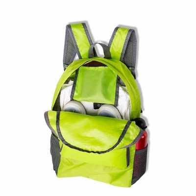 Crazy Ideas - Mochila dobrável de 25 litros confeccionada em nylon impermeável. Compacta e com abertura prática, possui compartimento principal com pequeno bolso in...