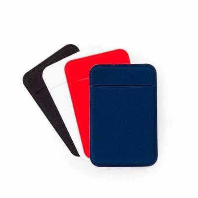 Adesivo porta cartão com revestimento de laycra, para utilização basta remover o selo traseiro e ...