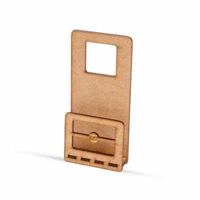Suporte de celular em madeira MDF crua