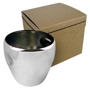 Crazy Ideas - Balde de gelo personalizado em inox. Capacidade de 5 litros. Embalagem em kraft com elástico, linha Mundial.