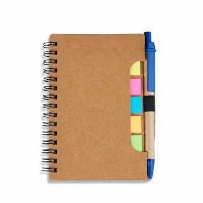 crazy-ideas - Bloco de anotações com autoadesivos e caneta ecológica