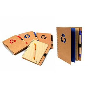 Crazy Ideas - Bloco de anotações com capa dura reciclada mais caneta