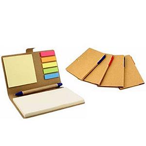 Crazy Ideas - Bloco de Anotações com capa dura mais caneta reciclada.