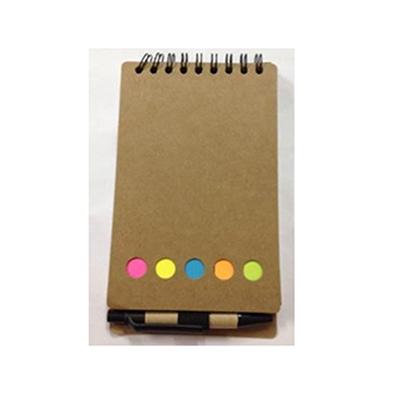 Crazy Ideas - Bloco de anotações ecológico em espiral preto.