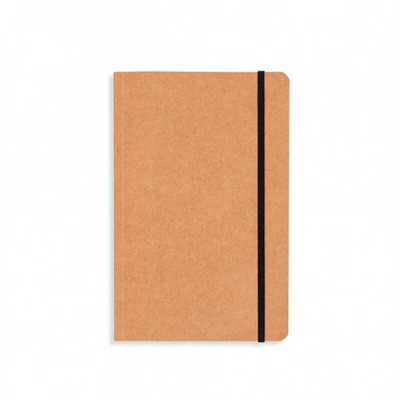 Caderneta em kraft com fita elástica para fechar
