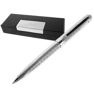 crazy-ideas - Caneta esferográfica personalizada masculina em prata 925 grife laban, acompanha estojo de madeira preto envernizado.