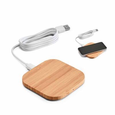 Carregador wireless. Bambu. Input: 5V/2A. Potência máxima de carregamento de 5W. Incluso cabo USB...