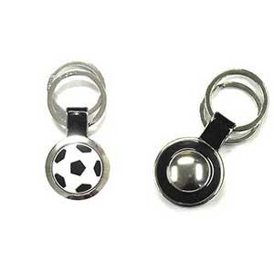 Crazy Ideas - Chaveiro de metal em formato circular de bola de futebol