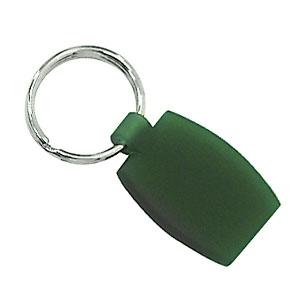 Crazy Ideas - Chaveiro personalizado em plástico, formato retangular, na cor verde.