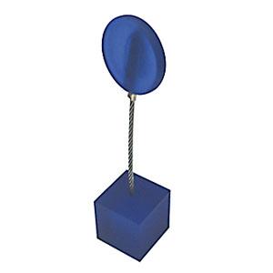 Clip personalizado em metal e acrílico azul escuro - Medida: 11 cm de altura, com função de porta recado e porta foto. - Crazy Ideas
