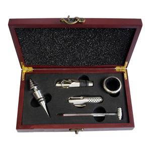 crazy-ideas - Conjunto personalizado de vinho com abridor, tampador, termômetro e canivete multifunções.