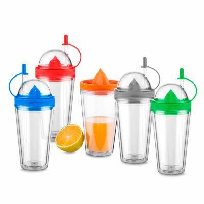crazy-ideas - Copo de plástico com espremedor de frutas 500 ml