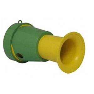 Crazy Ideas - Corneta de material plástico nas cores verde e amarelo