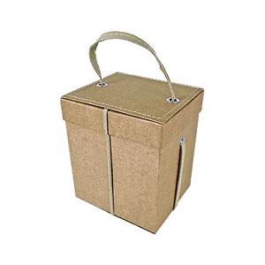 crazy-ideas - Embalagem personalizada em kraft, com alça em sintético, com pesponto simples para acondicionar geleira - Medidas: 150 x 180 x 130 mm.