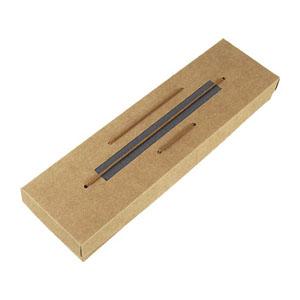 crazy-ideas - Embalagem personalizada em kraft, com detalhe em collor plus preto, com cordão, tampa de encaixe e berço localizado com elástico - Medidas: 90 X 332 X...