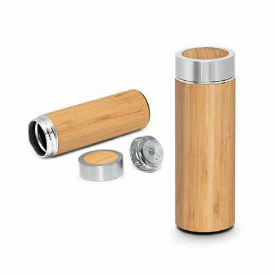 Crazy Ideas - Garrafa térmica. Bambu e aço inox