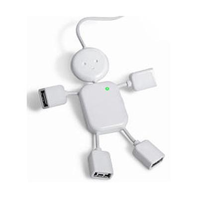 crazy-ideas - Hub personalizado branco em formato de boneco.