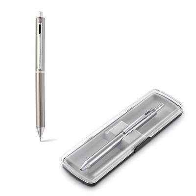 Conjunto personalizado de caneta esferográfica e lapiseira em metal.