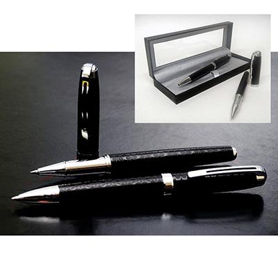 Conjunto de canetas personalizadas.