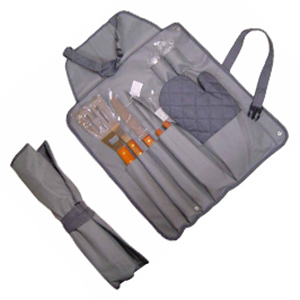 crazy-ideas - Kit churrasco acompanhado de talheres em inox e luva de proteção
