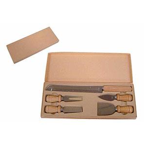 Crazy Ideas - Kit talher para queijo com 5 peças mais embalagem