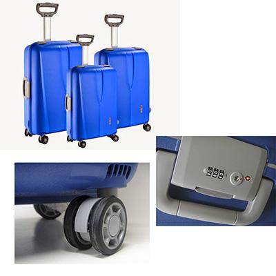 Crazy Ideas - Conjunto de malas de viagem personalizadas com alça ajustável.