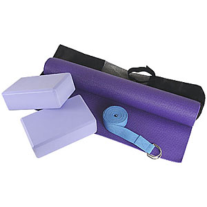 Kit Yôga Personalizado, contendo: tapete (1,80 m), bolsa em nylon, 2 blocos de EVA, cinto reforçado com argolas de metal com 2,40 m. - Crazy Ideas