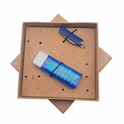 Crazy Ideas - Kit ferramenta com canivete em embalagem kraft