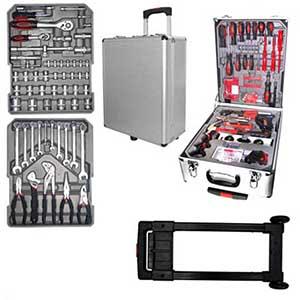 Maleta - super kit com 186 peças contidas em uma maleta com rodinhas.Ideal para trabalhos de manutenção, consertos e reparos.