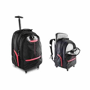 Crazy Ideas - Mochila para notebook, mala com rodas em vez de carregar o notebook.Adapta-se a telas de até 16