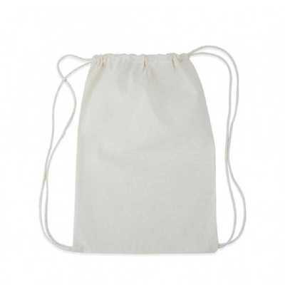 Mochila saco confeccionada em algodão