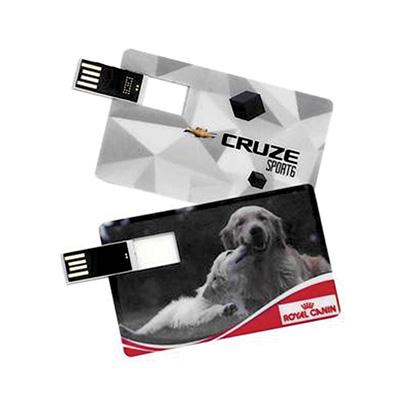 crazy-ideas - Pen drive personalizado modelo cartão 4GB com chip lateral.
