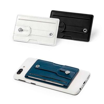 Porta cartões. PU. Tecnologia de bloqueio RFID. Fita ajustável em PU. Com autocolante da marca 3M...