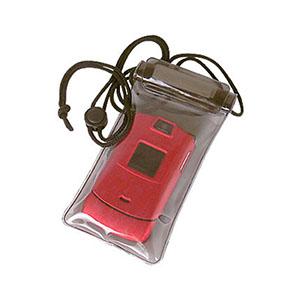 Crazy Ideas - Porta celular fumê com vedação e fechamento em velcro e cordão 15,5 X 8,4 l cm