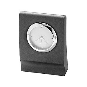 crazy-ideas - Relógio de mesa analógico em metal na cor cinza