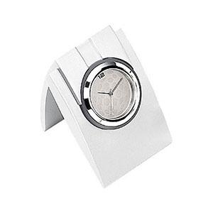 Relógio de mesa analógico em metal fosco