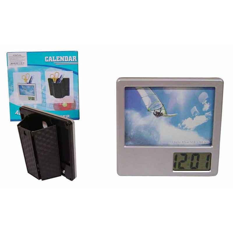 Crazy Ideas - Relógio de mesa digital, porta retrato e porta caneta