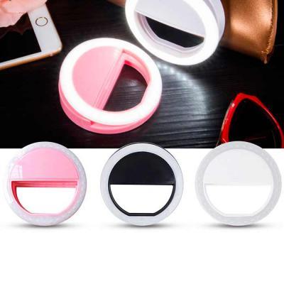 Crazy Ideas - Luz selfie ring light clip, material plástico. O clip funciona com bateria interna carregada por um cabo USB. O clipe é universal, sem restrições. Pod...