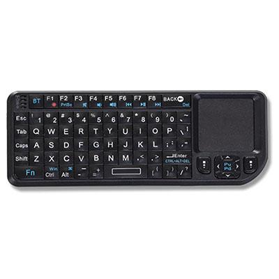 Mini teclado multifuncional - com mouse touch na lateral. Sistema via Wireless sem fio com alcance de até 10 metros. Laser Point embutido ideal para c...