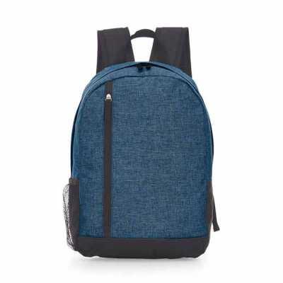 Mochila para notebook, um bolso lateral, Compartimento frontal com ziper, Alça de mão, Tecido pol...